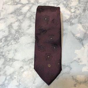 VTG Dior Monsieur Eggplant Tie